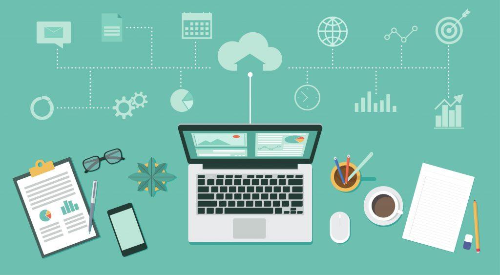 fonctionnalités possibles sur un environnement de travail numérique